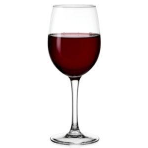 Vente et dégustation de vin - verre de vin rouge