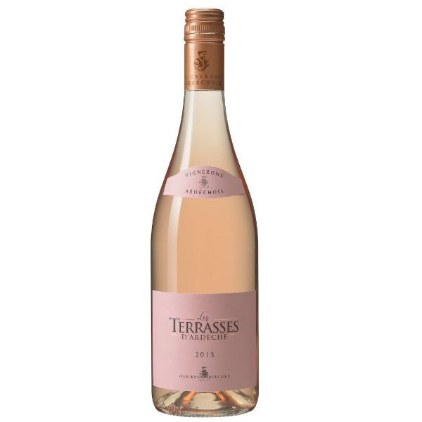 Les Terrasses rosé vin d'Ardèche disponible sur le wineshop d'Histoire de Boire