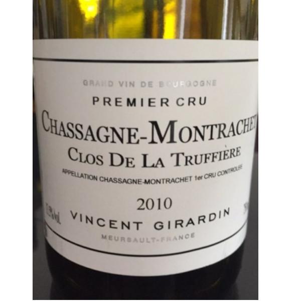 Chassagne Montrachet V Girardin Clos de la Truffières 2010 disponible sur le wineshop d'Histoire de Boire