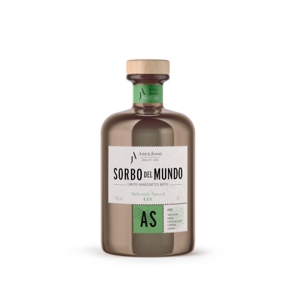 Gin belge Sorbo del Mondo Asie disponible sur le webshop d'Histoire de Boire