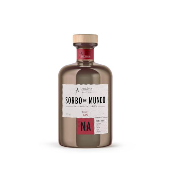 Gin belge Sorbo del Mondo Amérique du Nord disponible sur le wineshop d'Histoire de Boire